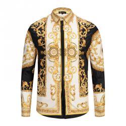 Versace chemises hommes,Versace Chemise jean coton,Chemise Manche ... 3d3a52cfd40