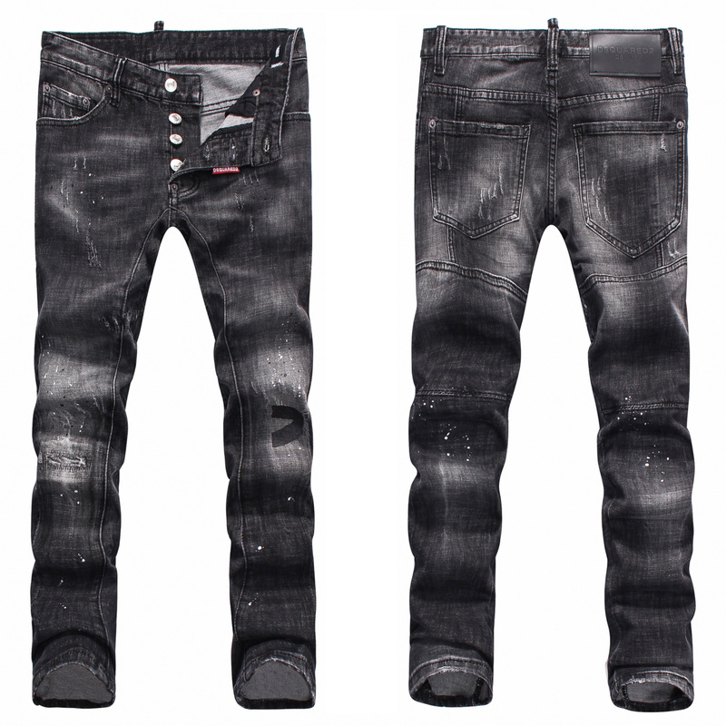 992082e58d999b dsquared2 jeans classic d2 pantalon noir wash Dsquared2 Jeans patch ...