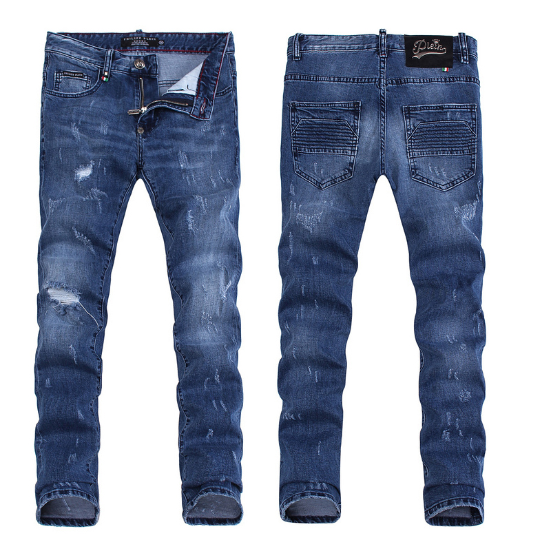 philipp plein distressed straight-leg hommes jeans soft comfortable ... a3c0a145a016
