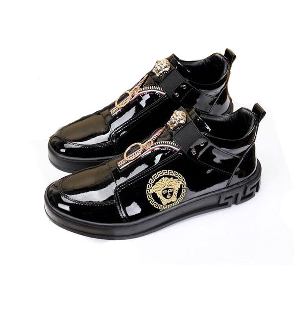 9954a854476 chaussure versace homme high zipper leather italy