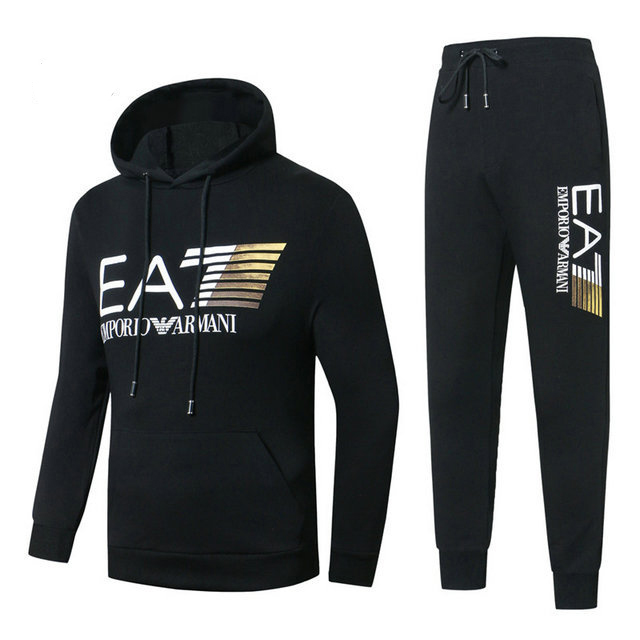 ea7 armani survetement 7wind noir hoodie 873ec48edae