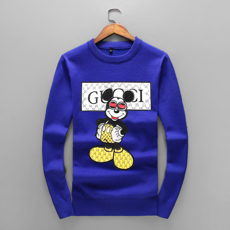 361dfe01ab5 gucci pulls knitted sweater mickey mouse blue gucci pulls hoodie hiver