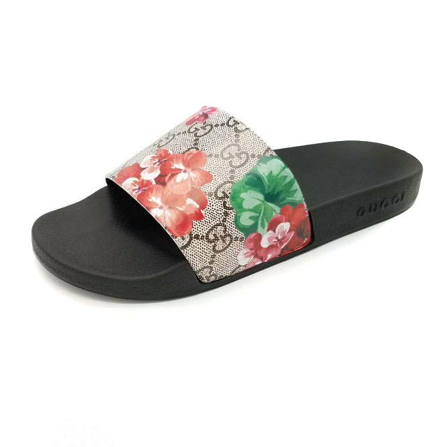 gucci slippers original flower red:gucc slide sandals pour homme