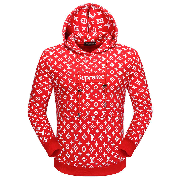 Pullover Louis Vuitton Et Supreme Hoodie Rouge:gucci Pulls Hoodie