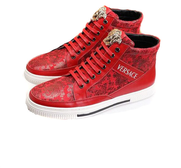 Versace Printed Homme Cher Pas Chaussure Red 3d nwOk0P