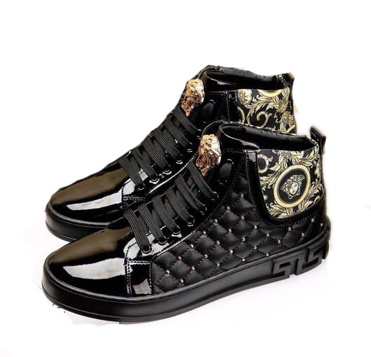 96b61a4440b versace chaussure homme solde high-top rivets